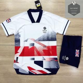 Quần áo bóng đá 🔥 FREESHIP 🔥 Bộ Ba Lá DAS Trắng Kẻ London ( Quần Có Túi ) New 2021 – Cam kế 100% Y Hình