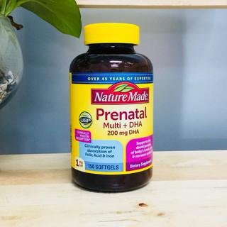 [DATE 8 2022] 150 Viên uống Vitamin tổng hợp cho bà bầu Nature Made Prenatal multi + DHA thumbnail