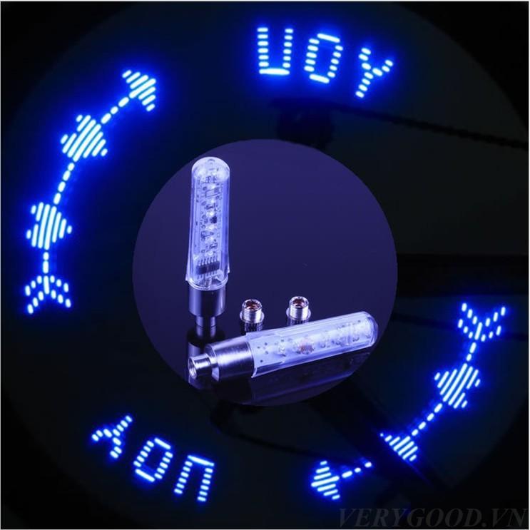 Đèn tạo hình gài chân van xe đạp FXB1002DCV (Trắng)