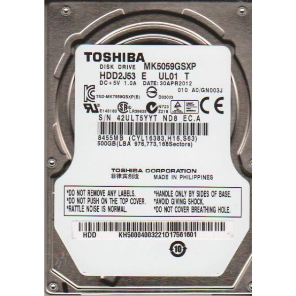 Ổ cứng Laptop Toshiba 500GB 5400rpm SATA