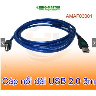 [HCM - Giá sĩ ]Cáp nối dài USB 2.0 3m KingMaster AMAF03001