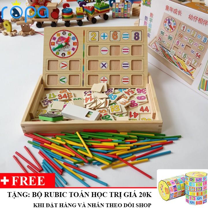 Đồ chơi gỗ, Bảng học toán thông minh 2 chữ số cho bé