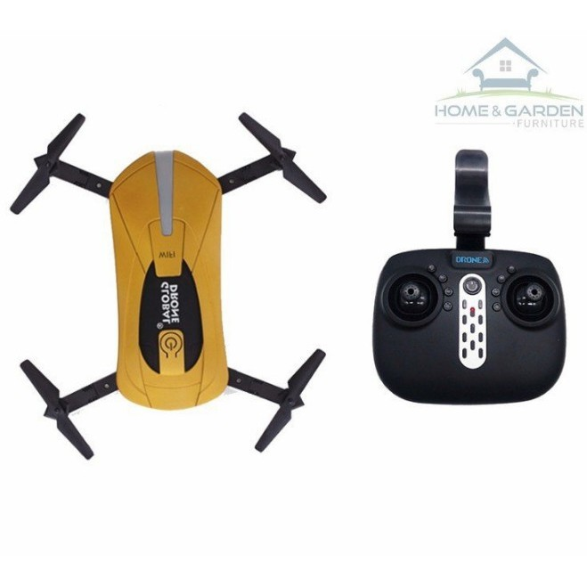 Máy bay Drone Camera Wifi Remote Control 200W model 2019 (Yellow) - Home and Garden