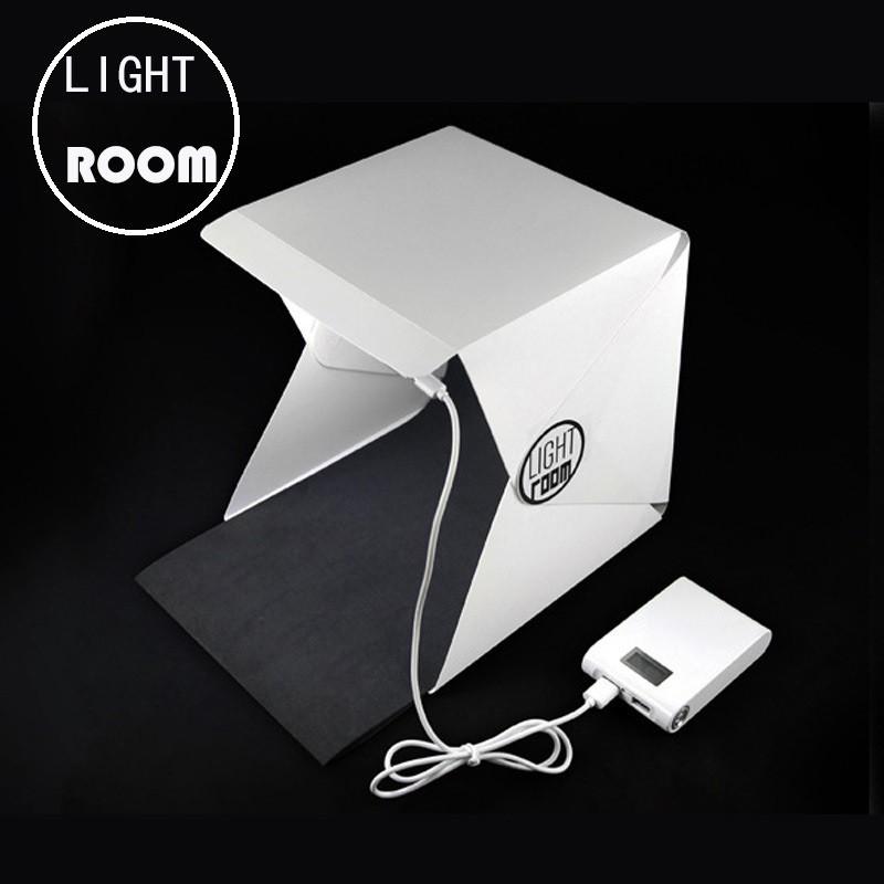 Hộp chụp sản phẩm Mini 22x24x24cm LightRoom Đèn LED siêu sáng, chất liệu cao cấp không nhăn POPO Spo