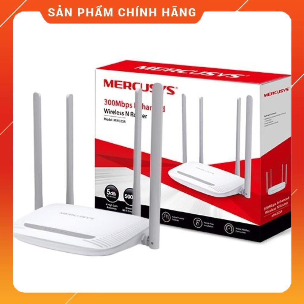 [Mã SKAMPUSHA7 giảm 8% đơn 250k]Bộ phát wifi Mercury MW325R 4 râu cực khỏe dailyphukien