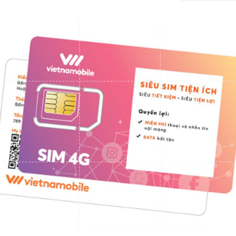 Siêu sim tiện ích miễn phí data gọi nội mạng  - Vietnamobile official