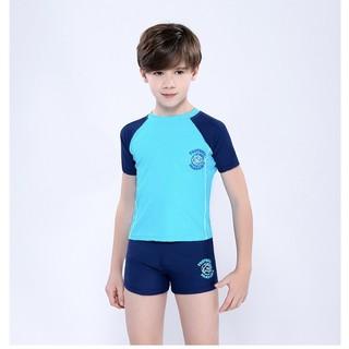 Đồ bơi bé trai quần Short kiểu dáng thể thao size lớn đến 53kg bao gồm nón YY7107
