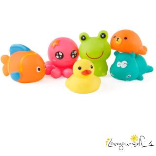 ♛loveyourself1♛-Bath Toys Animal Cartoon Pinch Water Spray Function Baby Puzzle Education Toys 5pcs Combination