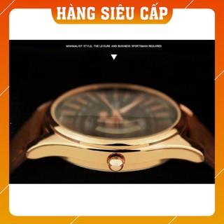[CAO CẤP] Đồng hồ nam Yazole 368 có dạ quang dây da thời trang sang trọng lịch lãm
