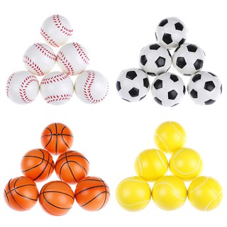 6Pcs 6.3Cm Childrens Vent Balls Soccer Stress Balls For Stress Relief Ball Games