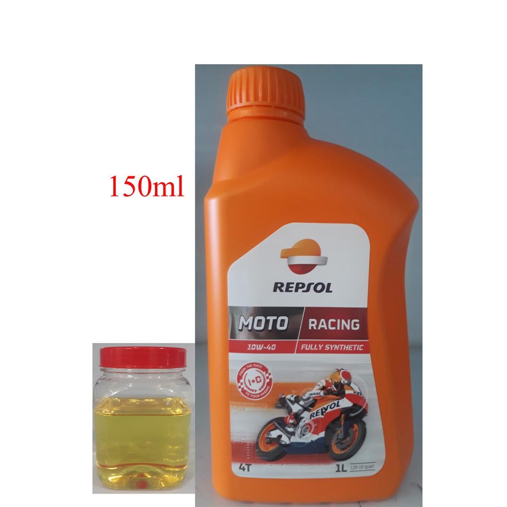 Dầu nhớt tổng hợp cao cấp xe số và xe tay côn Repsol Moto Racing 10W-40 150ml