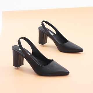 Giày Cao Gót 7cm Slingback Hở Gót Mũi Nhọn Pixie P880