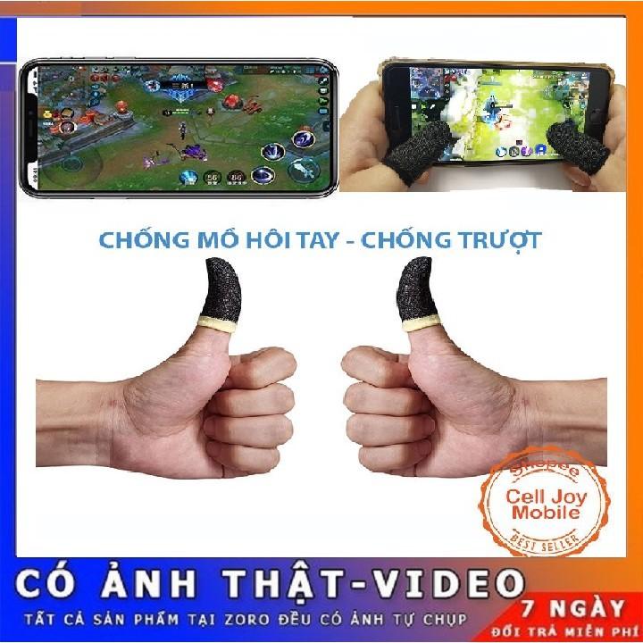[ SIÊU HOT ] Bộ bao 2 ngón tay chuyên dụng chơi game mobile PUBG, Liên quân... chống ra mồ hôi tay