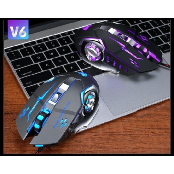 [HÀNG CÓ SẴN] Chuột Game V6 Đèn LED 7 màu - Cực Bền Thiết Kế Đẹp
