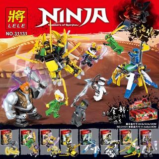 Đồ chơi lắp ráp lego ninjago phần 8 ninja cho bé trai trọn bộ 8 hộp như hình lele 31131.