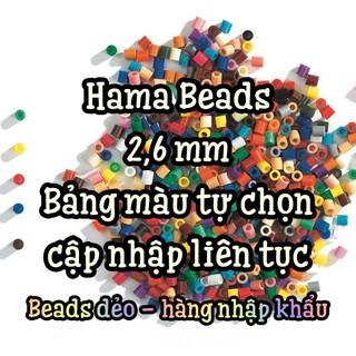 [Giá Rẻ – Chất Lượng] 2,6 MM Bán Buôn Hạt đậu thần kỳ, Hama Beads, Peler Beads, Hạt Nhựa Nhiều Màu 2,6 mm.