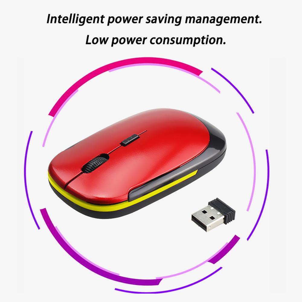Chuột quang không dây cổng USB 2.0 2.4G cho PC Laptop
