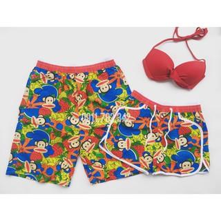 Cặp quần đôi nam nữ khỉ mặc đi biển nổi bật chất dù chắc chắn ( Đảm bảo như hình)- Mới nhất