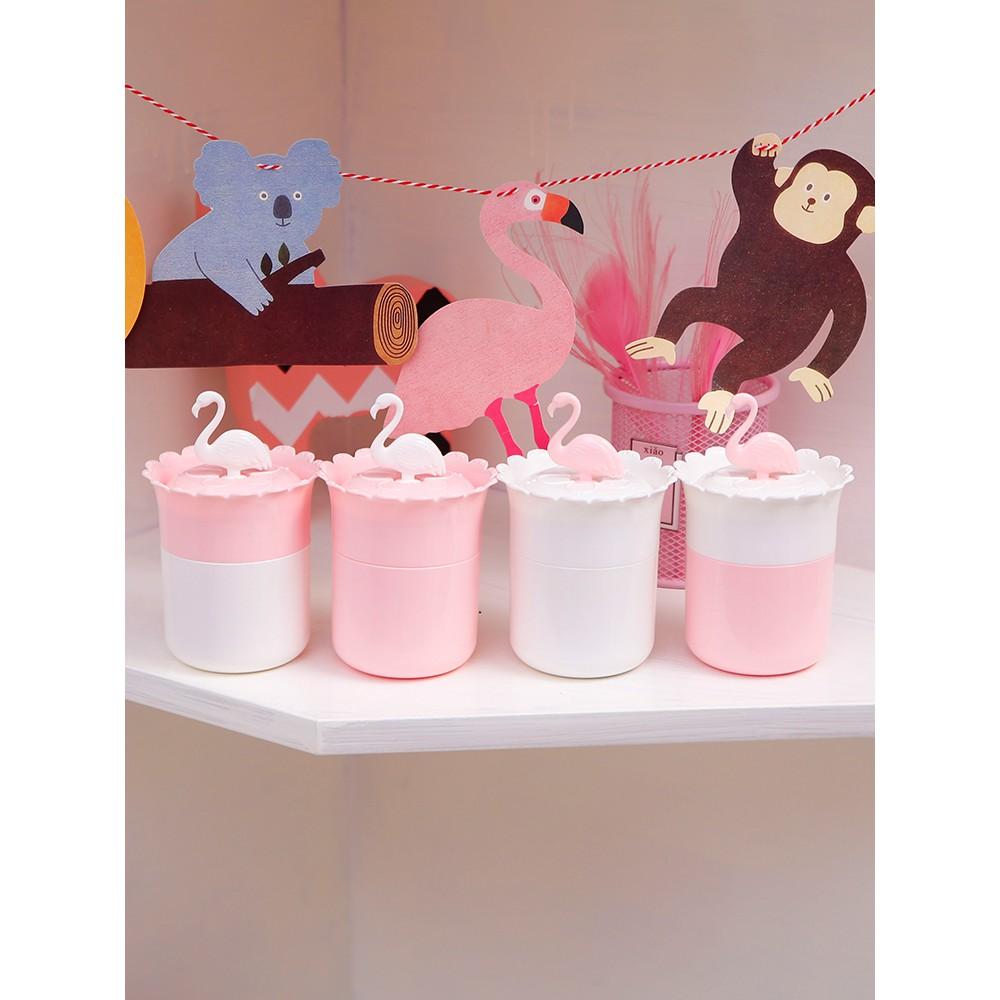 趴趴 cat household cotton swabs personality creative cute European portable toothpick tube girl heart pink cotton swabs re