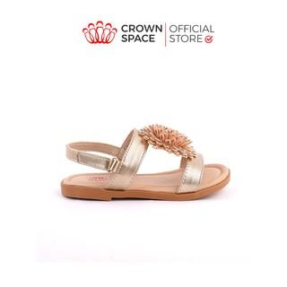 Sandals cho bé gái Crown UK Princess sandals CRUK7017 màu vàng bạc 2-14 tuổi thumbnail