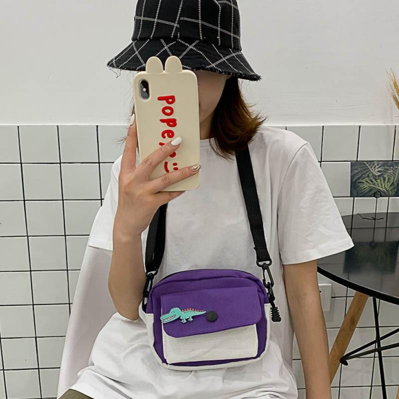 Túi vải in họa tiết hoạt hình phong cách Hàn Quốc dễ thương
