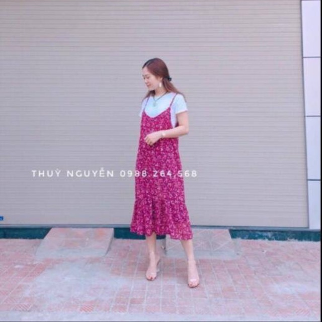 Set váy hoa nhí xinh yêu