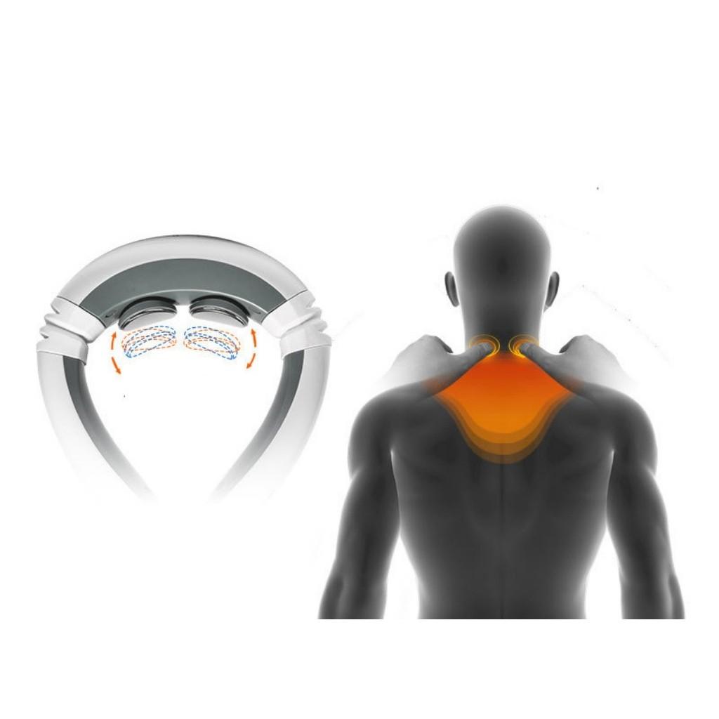 Máy Massage Chữ C 2 Trong 1 Rung Và Xung Điện Từ Trường Giảm Cơn Đau Cổ Vai Gáy Hiệu Quả