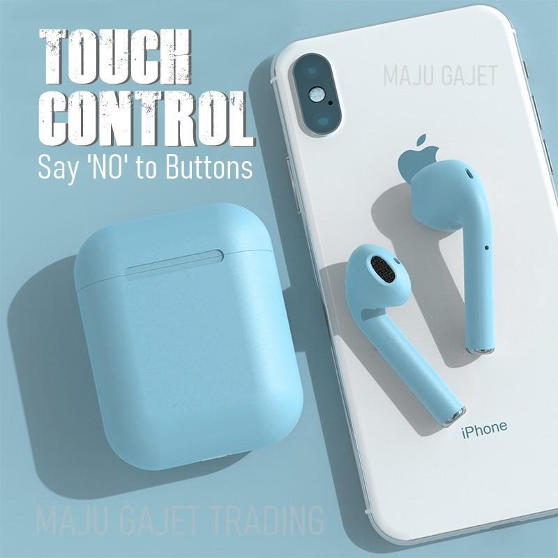 Tai Nghe Bluetooth NHÉT TAI INPODS I12 XANH NGỌC cảm biến vân tay