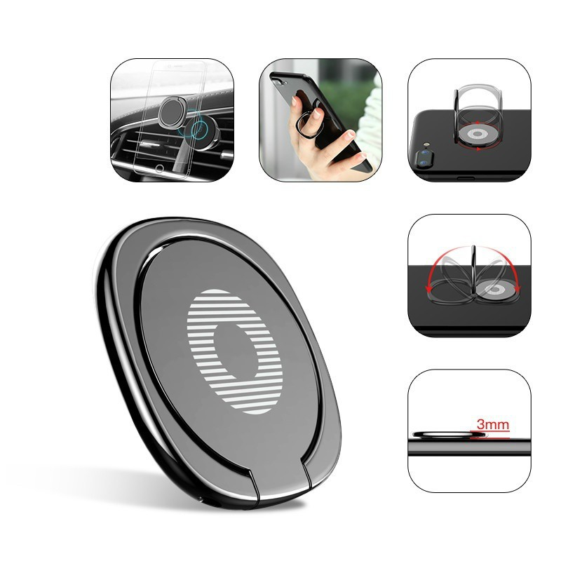 Giá đỡ kim loại 360 độ bảo vệ cho iPhone Android