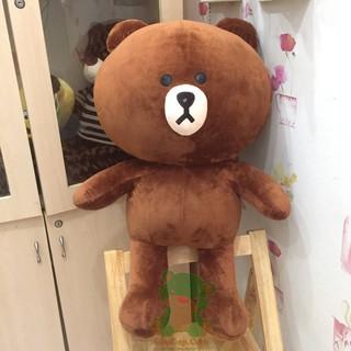 Gấu bông Brown cao cấp khổ vải 1,2m cao 1m