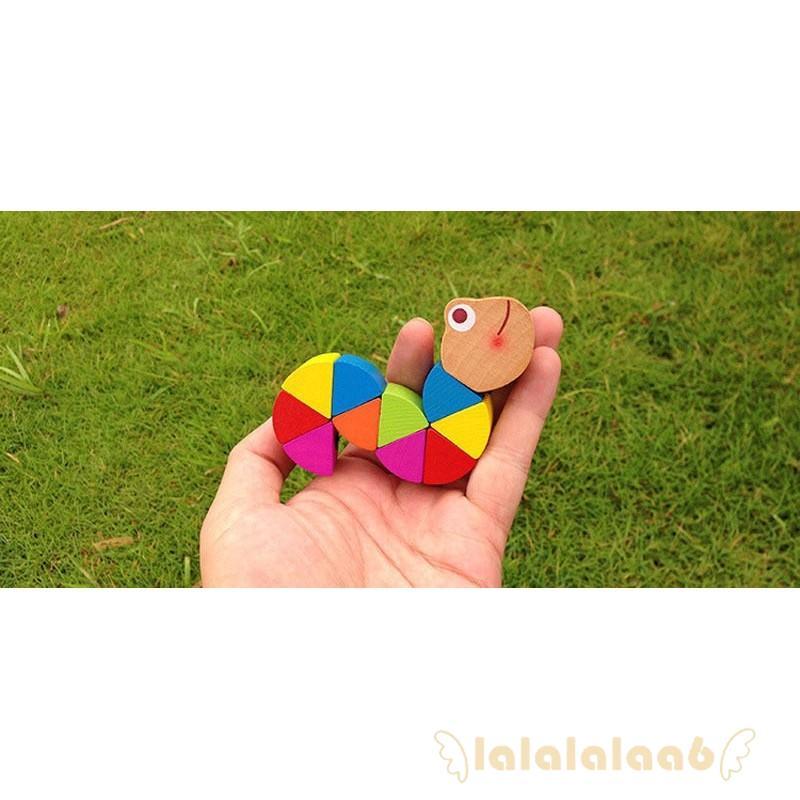 ◕ω◕Best Baby Kids Twist Caterpillar Wooden Teethings Toys Newborn