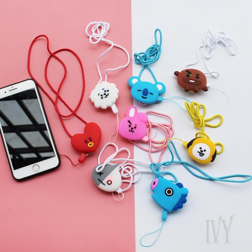 Ivy COD BTS BT21 KPOP Cartoon Neck Dual-use Mobile Phone Lanyard