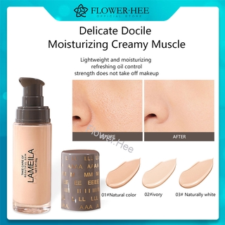 「Flower.Hee」Clear concealer liquid foundation, moisturizing oil control, invisible pores, concealing blemishes, acne marks, dark circles, nude makeup foundation, BB cream