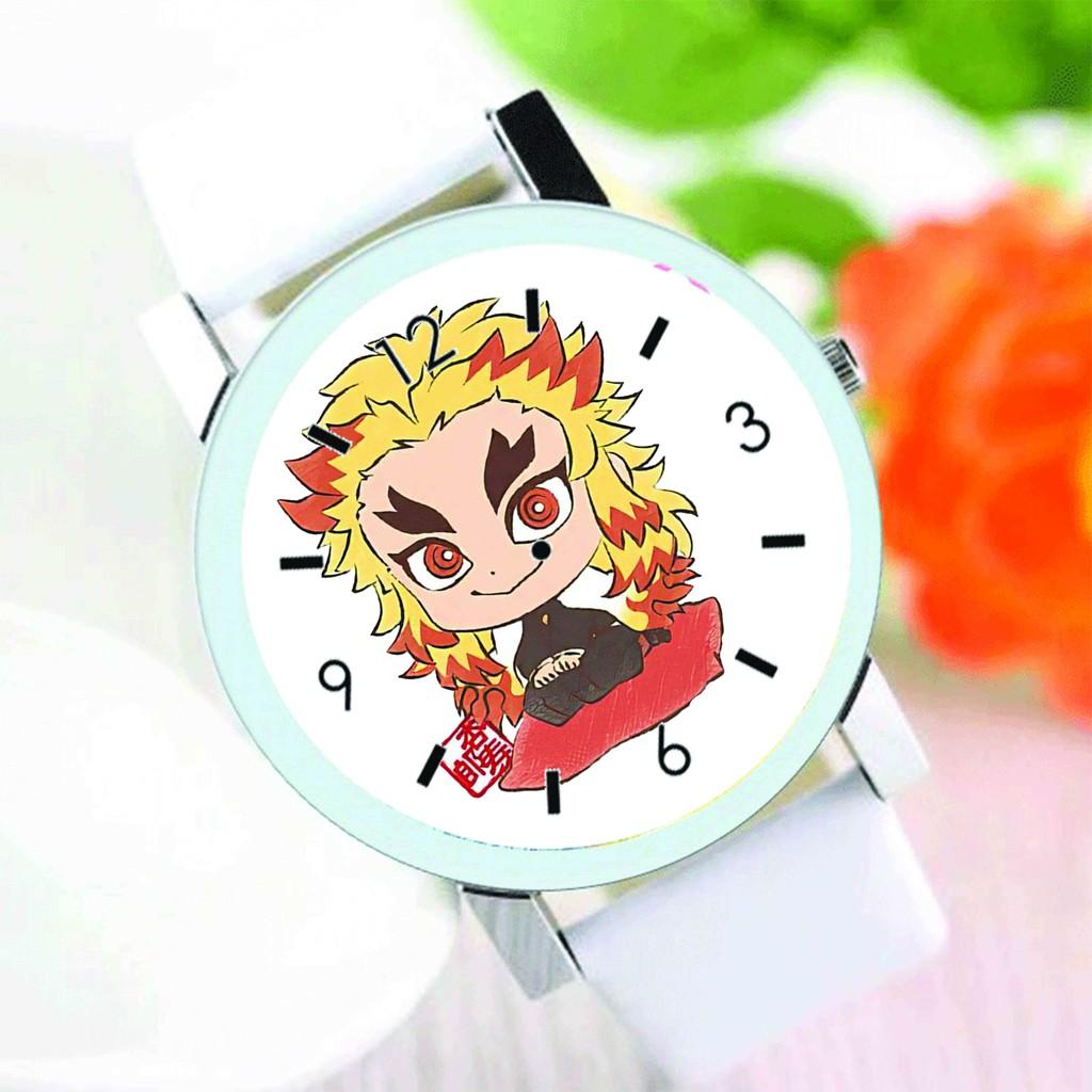 Đồng hồ đeo tay nam nữ in hình KIMETSU NO YAIBA Thanh Gươm Diệt Quỷ ver NGỒI anime chibi thời trang dễ thương độc đáo
