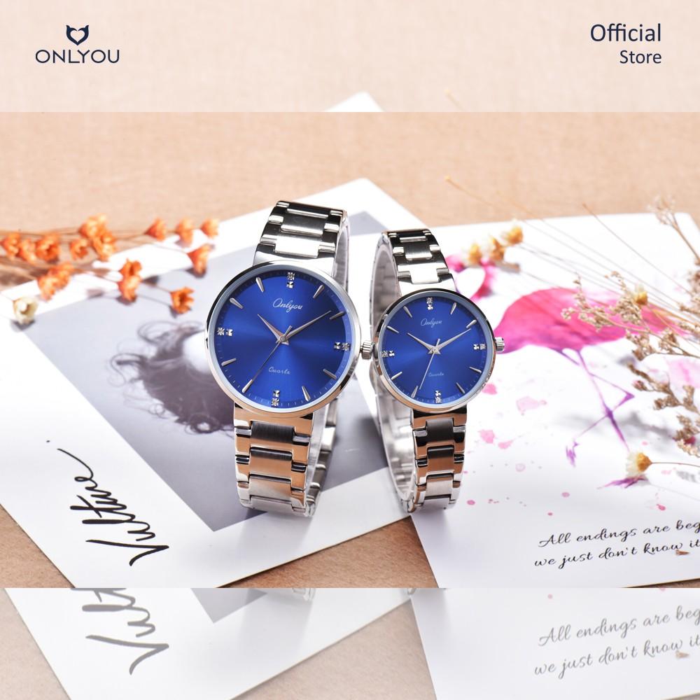 Đồng hồ Onlyou Nam 328065GA Dây thép không gỉ 40mm
