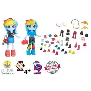 Búp bê Pony Rainbow Dash 10cm kèm áo quần, phụ kiện – Pony Fashion Squad