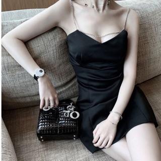 Đầm ôm hai dây xà cừ – Form A