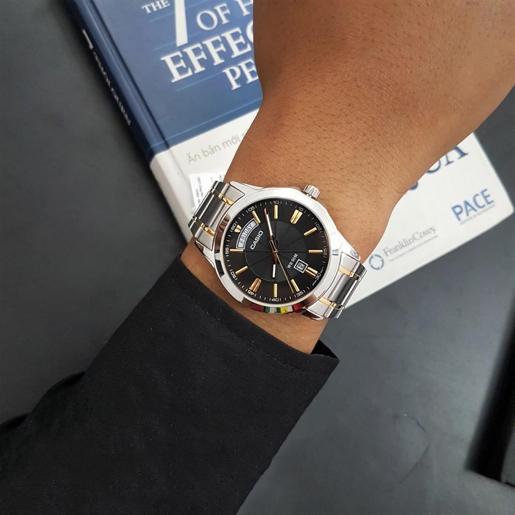 Đồng hồ nam dây kim loại Casio Standard chính hãng Anh Khuê MTP-1381G-1AVDF