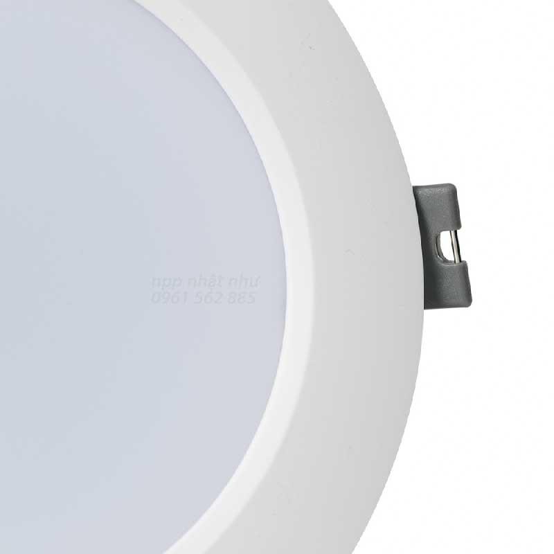 Đèn LED Âm trần Downlight Rạng Đông 90/7w Viền Trắng