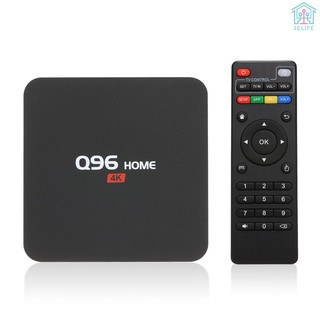 【E&V】Q96 HOME Smart Android 8.1 TV Box RK3229 Quad Core UHD 4K Media Player 1GB / 8GB 2.4G WiFi H.265 VP9 HDR10 Video Player with Remote Control