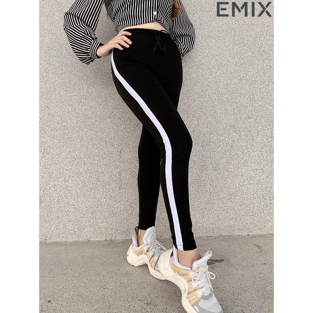 Quần thể thao nữ 1 sọc cá tính EMIX