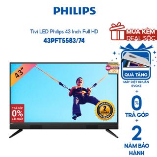 [Mã 158ELSALE hoàn 7% xu đơn 300K] Tivi LED Philips 43 Inch Full HD – 43PFT5583/74 (Model 2020) – Miễn phí lắp đặt