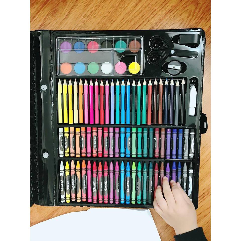 [HOT HOT HOT] Bộ hộp bút màu 150 món cho bé tô màu - hộp màu 150 chi tiết cho...