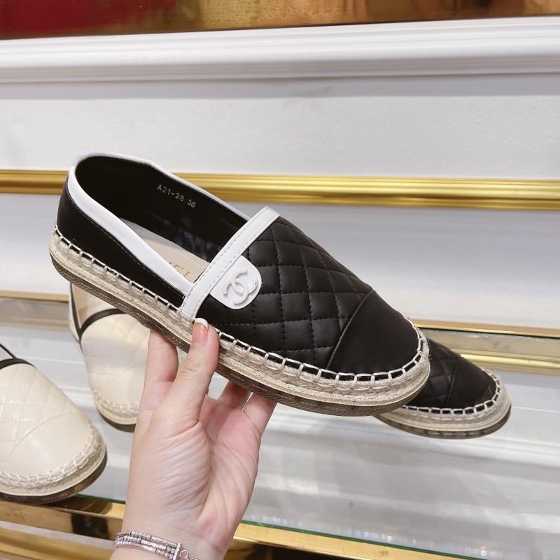 Giày slip on tag X trần trám, đế viền cói, hàng QCCC