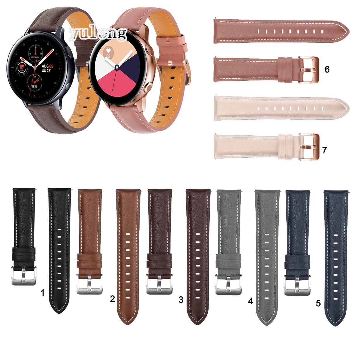 Dây Đeo Bằng Da Thật Cho Đồng Hồ Thông Minh Samsung Galaxy Watch Active 2  40mm 44mm