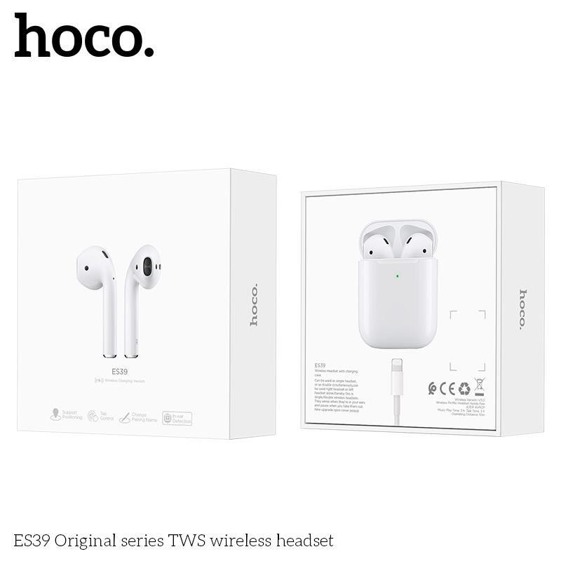 Tai nghe Bluetooth HOCO ES39 Original V5.0 (Trắng) Cảm biến - Định vị tai - Chính hãng