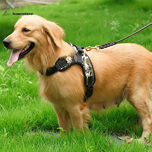 [LE]Large Dog Harness Soft Adjustable Training Harness Pet Walk Out Hand Strap Vest