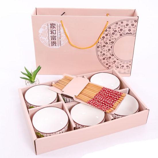 Set quà tặng 6 chén - đũa kèm hộp sang trọng Nhật
