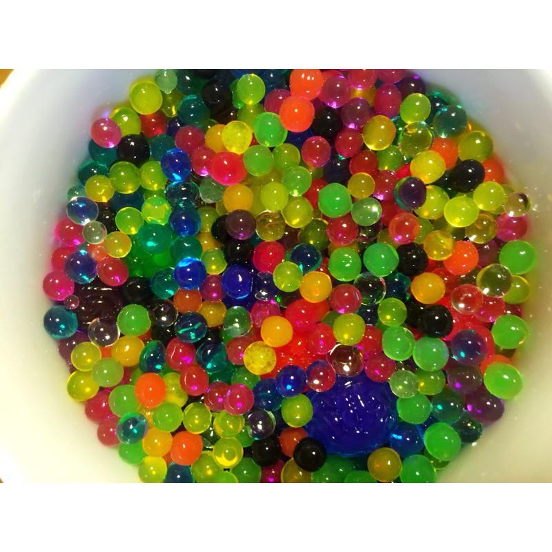 Nguyên liệu trang trí - gói 100gram hạt nở nhiều màu - hạt nở đan thạch mã HMN40