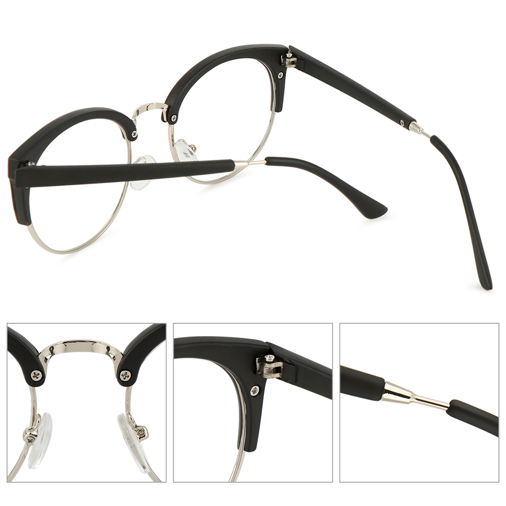 CLEVER Fashion Retro Spectacles Frames Anti-fatigue Eyewear Optical Glasses Men Women Computer Clear Lens Vintage Eyeglasses/Multicolor